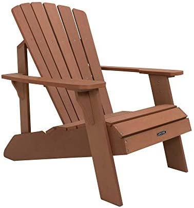 Lifetime Faux Wood Adirondack Chair, Brown – 60064