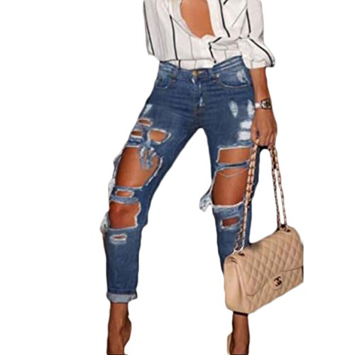 Womens-Skinny-Faded-Ripped-Casual-Slim-Denim-Cotton-Jeans