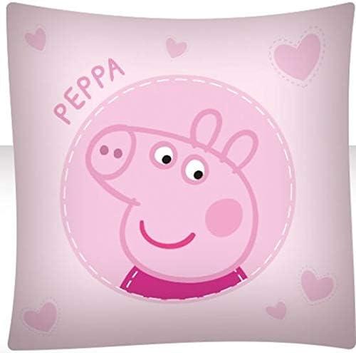 BrandMac ApS Peppa Pig Parure de lit pour enfant Housse de couette 135 x 200 cm Taie doreiller 80 x 80 cm Coton Fille Pig