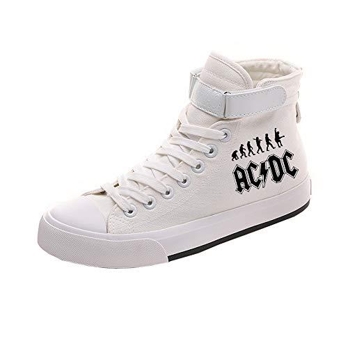 Popular Lazada Transpirables Ayuda White09 Alta Pareja Ocasionales Zapatos De Acdc Lona z8wtR4q