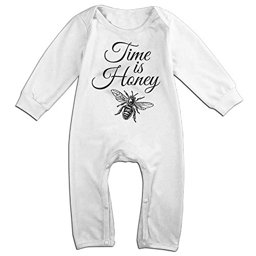 Magic Man Costume Adventure Time (Infant Baby's Time Honey Beekeeper Long Sleeve Romper Jumpsuit 18 Months White)