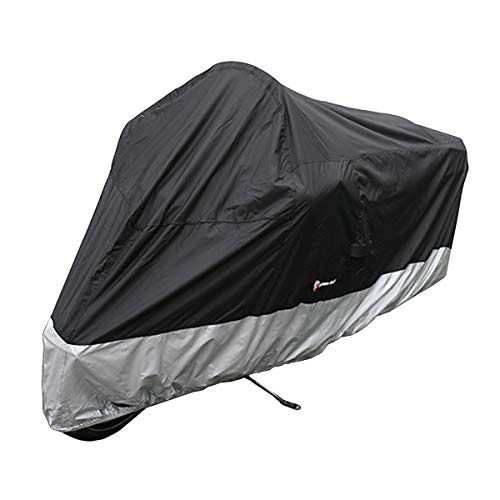 (Formosa Covers Deluxe All Season Motorcycle cover (XXL) Black. Fits up to 108