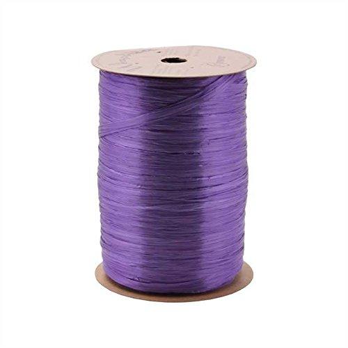Berwick Offray Violet Purple Pearlized Raffia Ribbon, 1/4'' Wide, 100 Yards