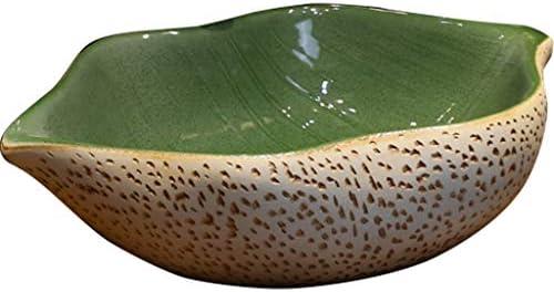 洗面ボール・洗面器 洗面所 リフォームガーデン中国風蓮の葉セラミックシンク レトロな洗面台 グリーンコリドーホテルカウンターベイスンの上 (Color : Green, Size : 51*35*14.5cm)