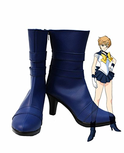 Sailor Moon Sailor Uranus Haruka Tenoh Cosplay Shoes Boots Custom Made