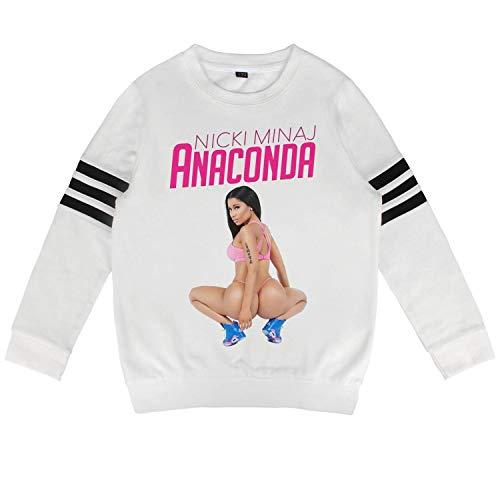 ZYALO Kids Outfit Teen Boys White Nicki-Minaj-and-Lil-Kim- Fleece Long Sleeve