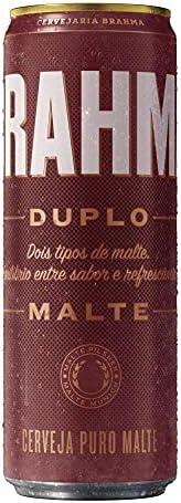 Cerveja Brahma Duplo Malte, Lata Sleek, 350ml 1un