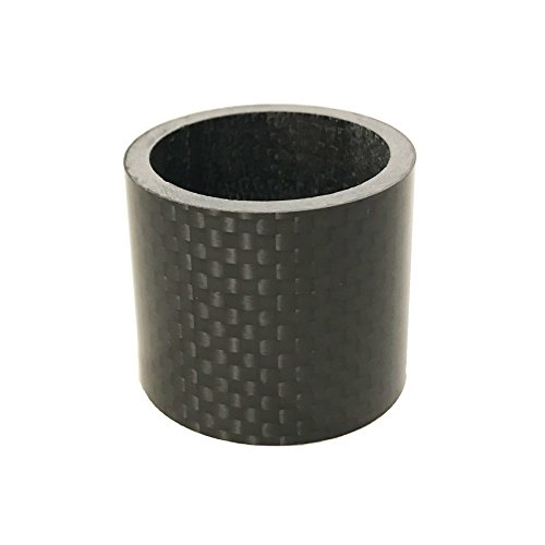 DEERU Bike Carbon Fiber Headset Spacer Stem Spacer 1 1/8 30 mm for MTB Road Bike Santa Cruz Haro Mongoose GT Giant Trek Cannondale Scott Yeti Schwinn Bikes (Glossy) - Trek Carbon Fiber