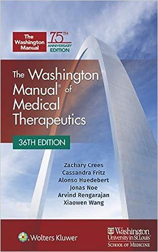The Washington Manual of Medical Therapeutics Paperback, 36th Edition