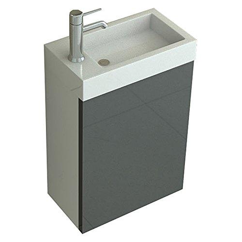 WC Lavandino del bagno Set Aarau in grigio Bad bagni e Bad austattung di jet di linea Jet-Line