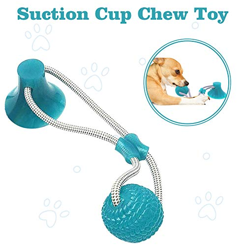 Demlor Pets Multifunction Pet Molar Bite Toy, Durable Dog Tug Rope Ball Toy with Suction Cup, Tugging, Pulling, Chewing…