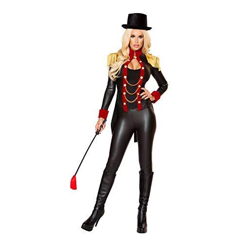 Roma Costume 2 Piece Halloween Sassy Ringleader Costume Black/Red/Gold - Small