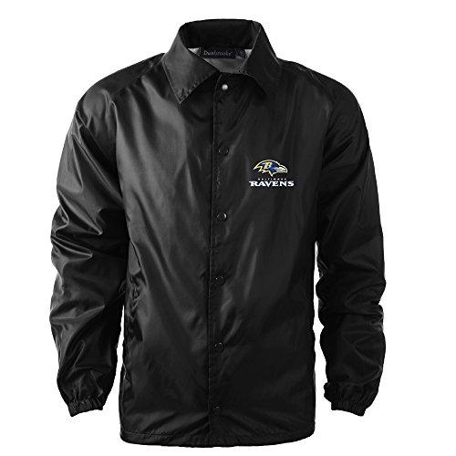 Dunbrooke Apparel NFL Baltimore Ravens Men's Coaches Windbreaker Jacket, Large, -
