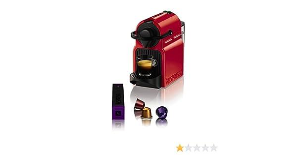 Cafetera de Cápsulas Krups XN1005 Inissia Nespresso 19 bar 0,7 L 1260W Rojo: Amazon.es: Hogar
