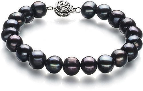 Kaitlyn Black 8-9mm A Quality Freshwater Cultured Pearl Bracelet For Women