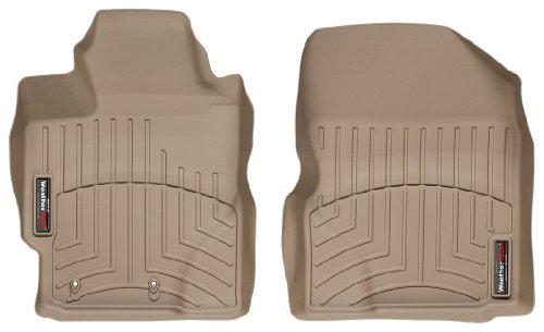 WeatherTech Custom Fit Front FloorLiner for Toyota Yaris, Tan - with 1st Row Heating Vents (2010 Scion Xd Weathertech compare prices)