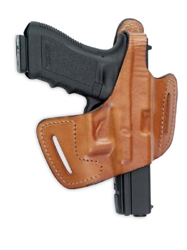 Front Line Fast-Draw Belt-Slide Leather Holster (Brown) by Front Line