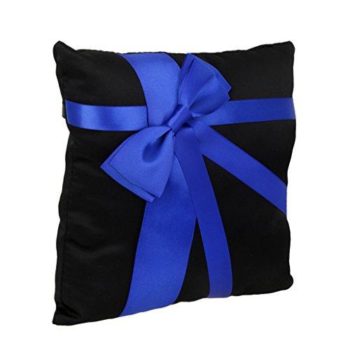MagiDeal Wedding Cushion Bowknot 20cmx20cm