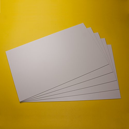 Plastic panels plastic sheet ps panels, thickness 1/17 for model making/handikraft work white, different sizes and different quantities, buy 5 pcs plastic sheet pieces, 12,6 x 7,8 x 1/17
