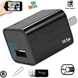 USB Wifi Wireless P2P 1080P HD Wall Charger Hidden Mini Nanny Spy Camera,Motion Detection Activated,Support IOS iPhone and Android APP, Remote Control ,Live Video.For Home Security,Support Up To 64GB