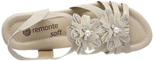 Sandales silver Kiesel Muschel Beige Cheville Remonte Femme D3462 Bride Px5wfnBpq