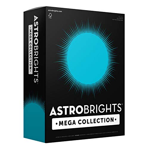 Teal Blue Color (Astrobrights Mega Collection, 625 Sheets, Bright Blue, Colored Paper, 24 lb/89 gsm, 8 ½ x 11-MORE SHEETS!)