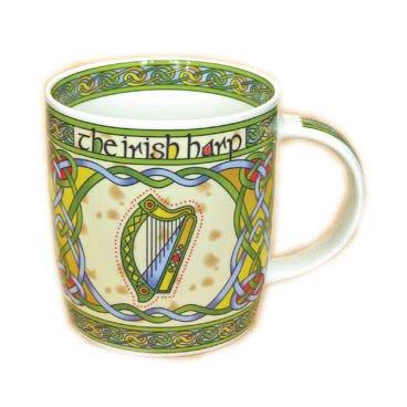 Irish Harp bone china mug - Irish