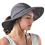 FURTALK Safari Sun Hats for Women Wide Brim UV UPF Ponytail Outdoor Hunting Summer Fishing Hiking Hat