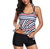 TADAMI Floral Tankini Swimsuits for Women Two Piece Bathing Suit