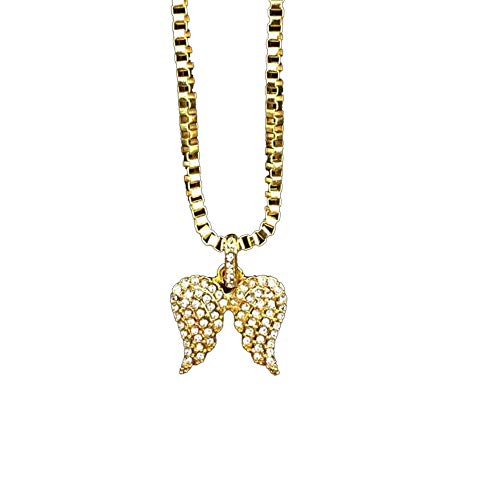 Full Diamond Alloy Pendant Hip Hop Shiny Necklace Men and Women