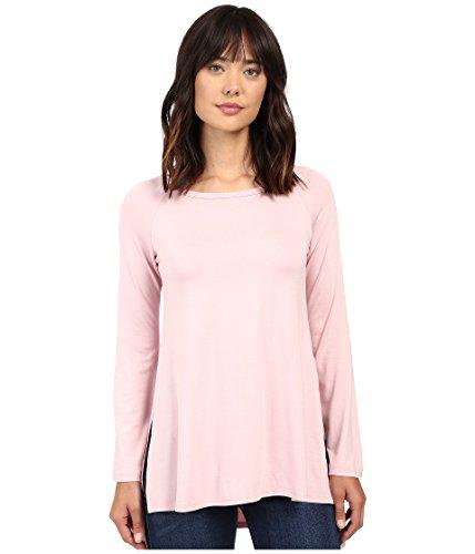 Karen Kane Women's Hi-Lo Raglan Sleeve Top Pink Shirt