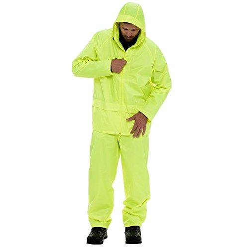 Refrigiwear Men's Midweight Rainwear Set - High Visibilty Packable Rain Jacket and Pants Set -  0195-PARENT