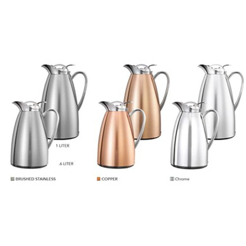 Service Ideas CJZS1CH Carafe, Stainless Steel Lined, All Polished, 1 L by Service Ideas