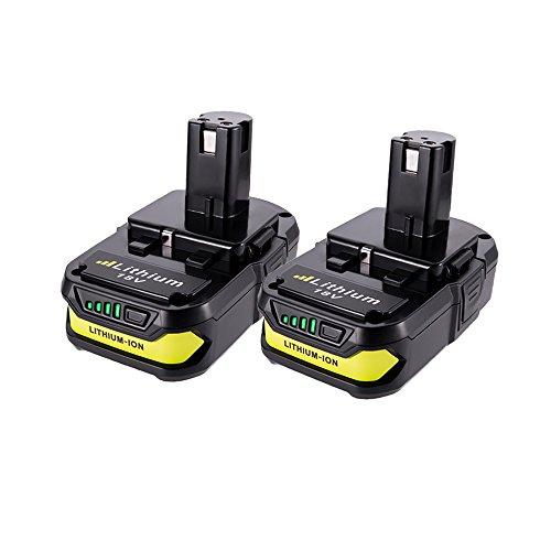 2 Pack 18v P102 Batteries, MASIONE 2000mah Lithium Battery for Ryobi One+ Cordless Power Tools P104 P105 P102 P103 P107 P108