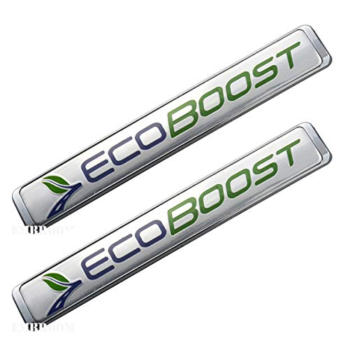 2Pcs Ecoboost Badge Emblems 3D Nameplate Door Fender Tailgate Stickers Replacement for Ford F-150 (Green ()
