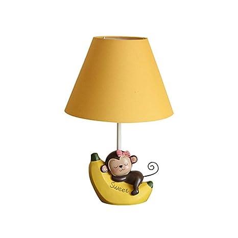 Dkdnjsk simpatico cartone animato scimmia lampada da tavolo