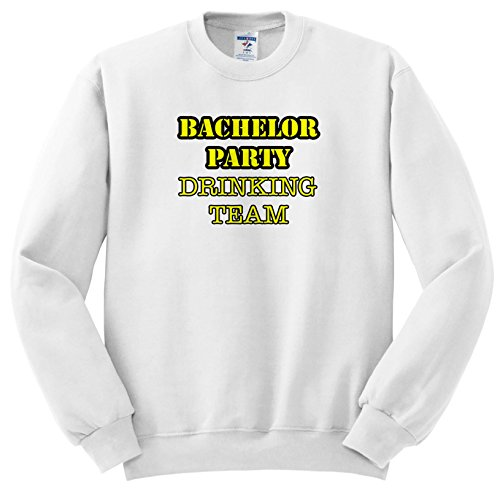 Stag,Bachelor Party - Bachelor Party Drinking Team Yellow - Sweatshirts - Adult Sweatshirt 3XL (SS_261067_6) ()