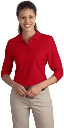 Port Authority Women's Silk Touch 3/4Sleeve Polo