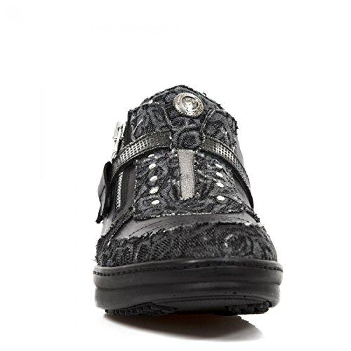 M Urban Sicherheits Schwarz Rock HY031 Sportschuhe New Punk Hardrock S7 Boots Damen 4qXgwEwx17