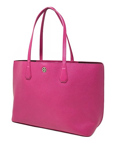 Tory Burch Perry Leather Tote 41135 Port Royal - Burch Pink Tory
