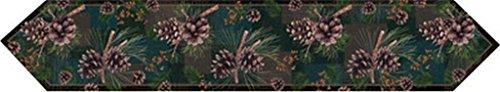 River's Edge Pinecones Table Runner, 71 x 13