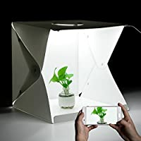 EleLight Portable Photo Studio, Photo Studio Shooting Tents Mini Photo Box with 4 Colors Backdrops(White Black Red Green) for Photography(16x16x16inches)