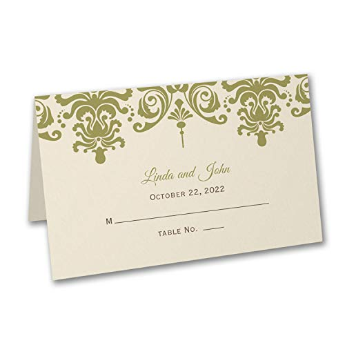 600pk Damask - Place Card-Place Cards