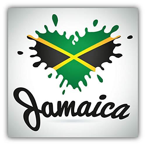 Jamaica Flag Heart Blot Label Window Truck Car Bumper Sticker Decal 5