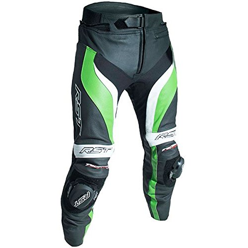 (RST 2052 TracTech Evo III Mens Armoured Motorcycle Leather Jeans - Green)