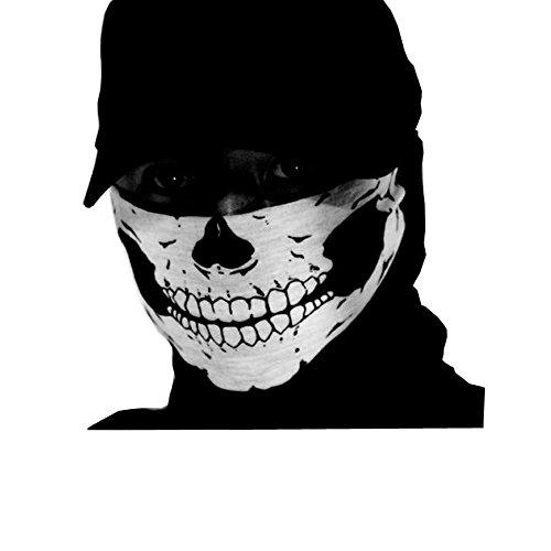 CRAVOG Totenkopf Halstuch Skull Snowboard Ski-Tuch Biker Gangster Bandana Schlauchtuch