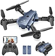 SNAPTAIN A10 Mini Foldable Drone with 720P HD Camera FPV WiFi RC Quadcopter w/Voice Control, Gesture Control,