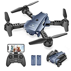 Flashandfocus.com 41rqMTiiahL._SS300_ SNAPTAIN A10 Mini Foldable Drone with 720P HD Camera FPV WiFi RC Quadcopter w/Voice Control, Gesture Control, Trajectory…