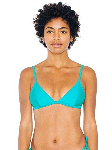 American Apparel Women's Triangle Bikini Top Size M Ceramic Green