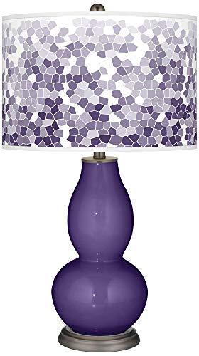Izmir Purple Mosaic Giclee Double Gourd Table Lamp - Color + Plus